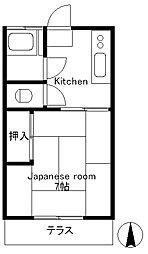 台二荘[2階]の間取り