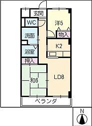 グランドメゾン中小田井[1階]の間取り