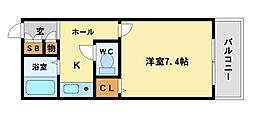 アルテハイム尼崎[2階]の間取り