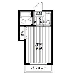 東京都練馬区小竹町の賃貸アパートの間取り