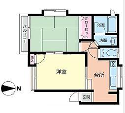 MARIHO石川町II[2階号室]の間取り