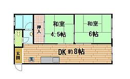 兵庫県神戸市兵庫区下沢通4丁目の賃貸マンションの間取り