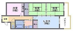 乾マンション[3階]の間取り