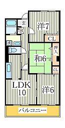 ル・モンテストF[1階]の間取り