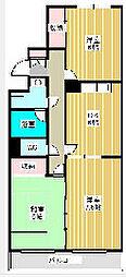 ガーデンヒルズ[3階]の間取り