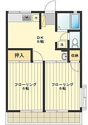 東京都国分寺市高木町3丁目の賃貸アパートの間取り