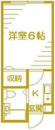 ベイサイドST西横浜[105号室]の間取り