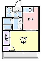 神奈川県平塚市明石町の賃貸マンションの間取り
