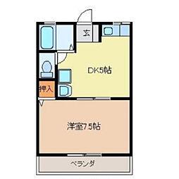 愛日ハイツ中島田[A103号室]の間取り
