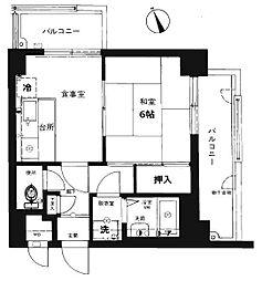 ライオンズマンション西公園第5[12階]の間取り