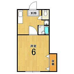 松本マンション[303号室]の間取り