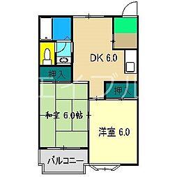 コスモハイツ高須2[2階]の間取り