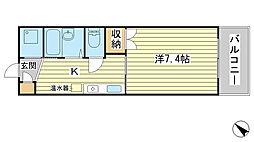 兵庫県赤穂市加里屋中洲5丁目の賃貸マンションの間取り