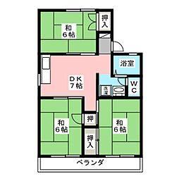 セジュール滝 B[2階]の間取り