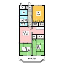 Mハイツ[4階]の間取り