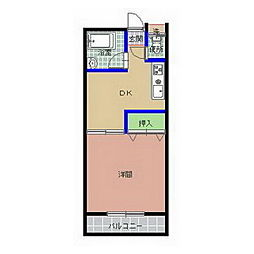 コーポ金沢A棟[207号室]の間取り