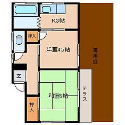 [一戸建] 千葉県松戸市栄町1丁目 の賃貸【/】の間取り