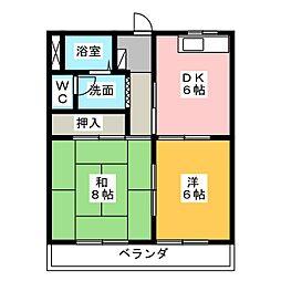 トラッドIT[3階]の間取り