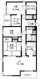東京都杉並区西荻北1丁目の賃貸マンションの間取り