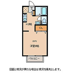 長野県諏訪市小和田南の賃貸アパートの間取り