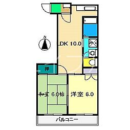 ビアスナワテ[2階]の間取り