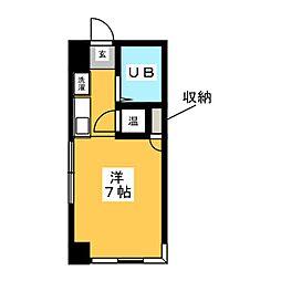 ウイング島田[2階]の間取り