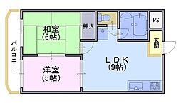 サンシャインハイツ[1階]の間取り
