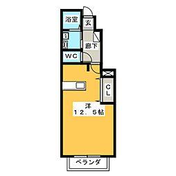 サニーブライト[1階]の間取り