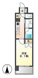 ララステージ熱田[8階]の間取り