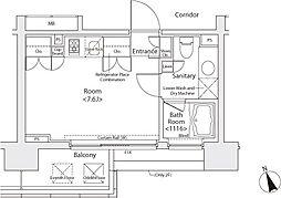 カスタリア戸越[2階]の間取り