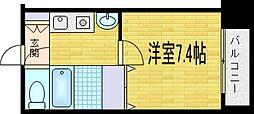 レジュールアッシュ梅田イースト[6階]の間取り