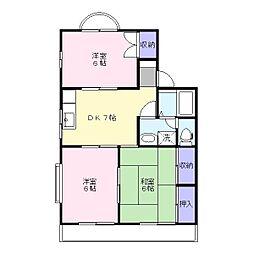グレイスマンション文京[2階]の間取り