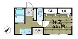 GRAZIOSO MORINO[2階]の間取り