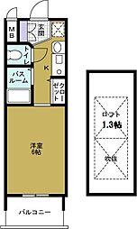 エステムコート難波ウエストサイド大阪ドーム前[6階]の間取り