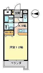 グロース佐賀駅前[205号室号室]の間取り