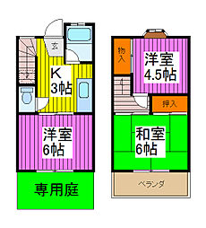 [テラスハウス] 埼玉県蕨市錦町1丁目 の賃貸【/】の間取り