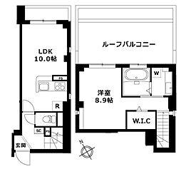 東急東横線 祐天寺駅 徒歩8分の賃貸マンション 5階1LDKの間取り
