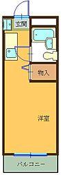 ハイツ東山B[107号室]の間取り