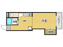 八尋ビル[3階]の間取り
