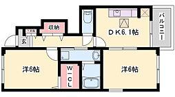 トゥルーハートA棟[1階]の間取り