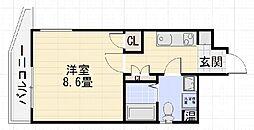 2プロスパーハイツ深井[306号室]の間取り