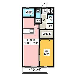 岡山県岡山市南区福成1丁目の賃貸マンションの間取り