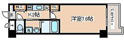 阪神本線 岩屋駅 徒歩1分の賃貸マンション 3階1Kの間取り