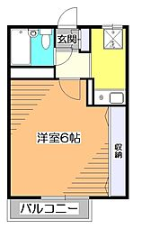 東京都東村山市萩山町1丁目の賃貸アパートの間取り