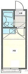 ガーデンハイツ金沢B[2階]の間取り