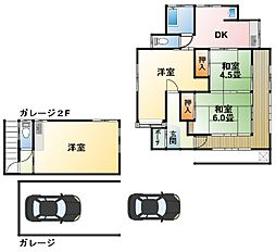[一戸建] 千葉県東金市堀上 の賃貸【/】の間取り