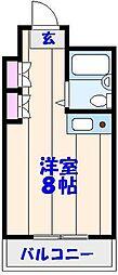 KAWABE361[202号室]の間取り