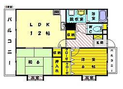 安部ビル2001[2階]の間取り