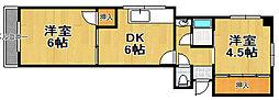 リバティハイツ[3階]の間取り