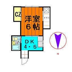 コヒラ島根I[101号室]の間取り